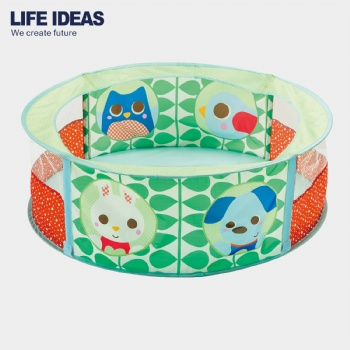 Animal printed round ball pit